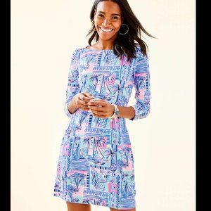 Lilly Pulitzer UPF 50+ Sophie Dress Sailboats Sz M